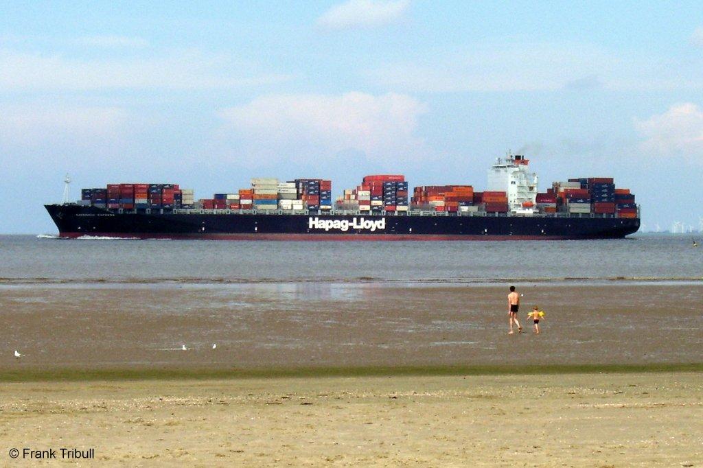 Savannah Express aufgenommen am 20.08.2006 bei Otterndorf