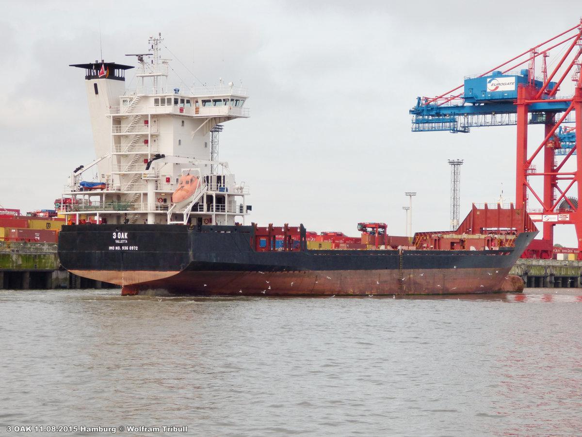 3 OAK am 11.08.2015 bei Hamburg Höhe Container Terminal Eurogate