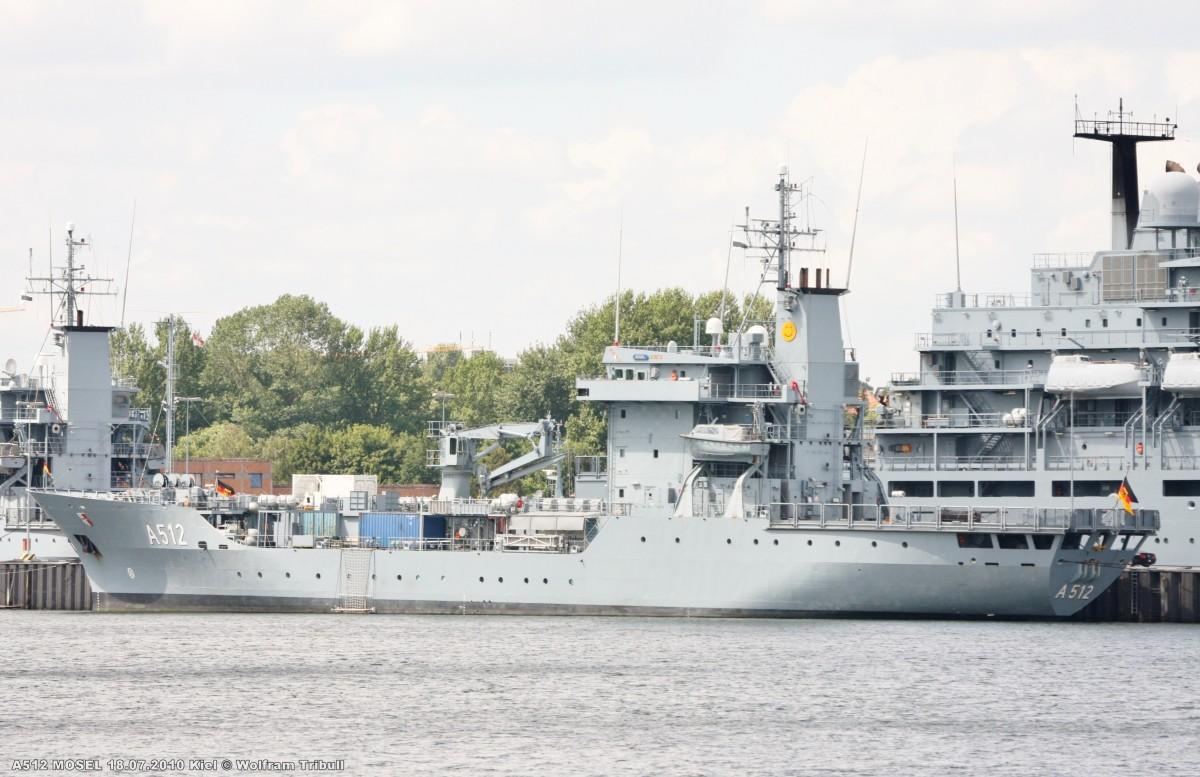 A512 MOSEL am 18.07.2010 im Marinehafen von Kiel