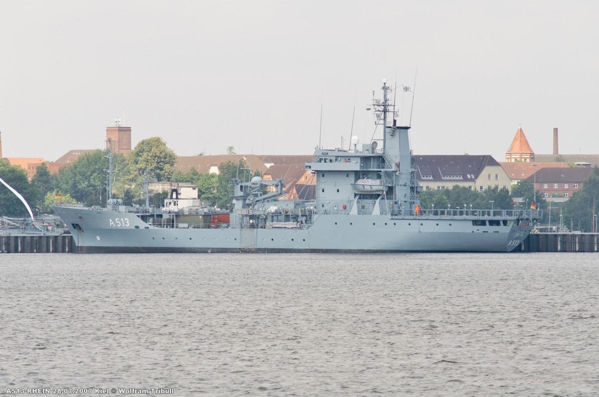 A513 RHEIN am 28.07.2007 im Kieler Marinehafen