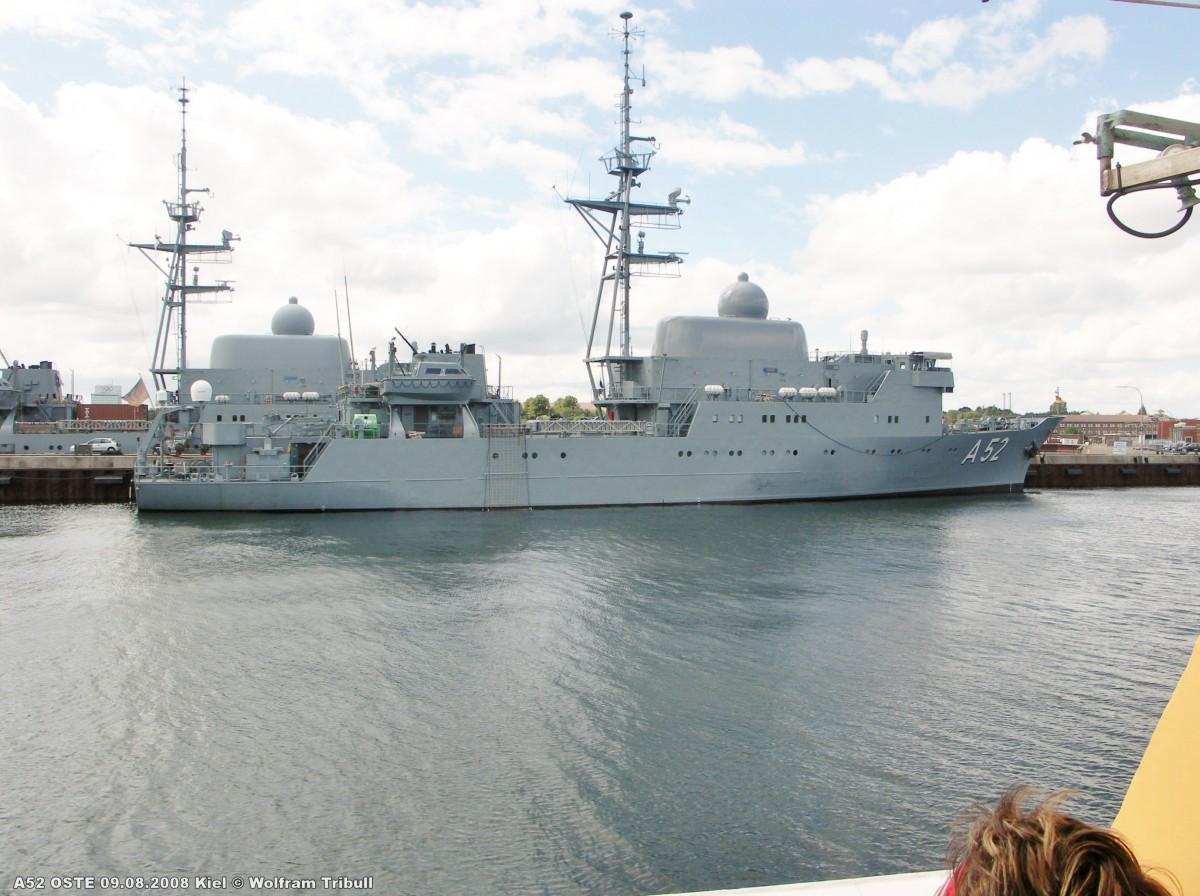 A52 OSTE am 09.08.2008 im Marinehafen von Kiel