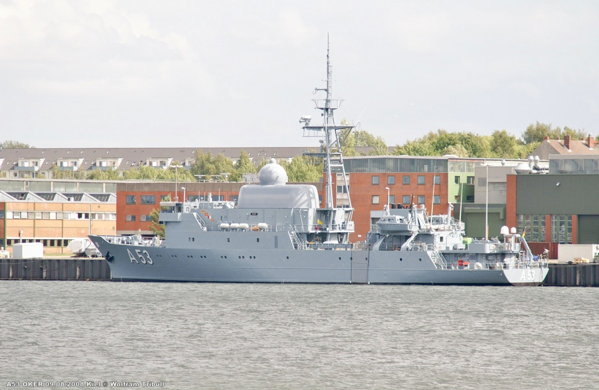 A53 OKER am 09.08.2008 im Kieler Marinehafen
