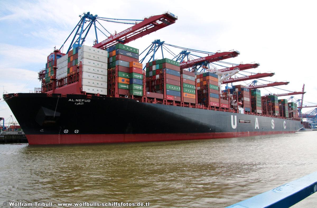 AL NEFUD aufgenommen am 30. Juli 2017 bei Hamburg Höhe Container Terminal Burchardkai