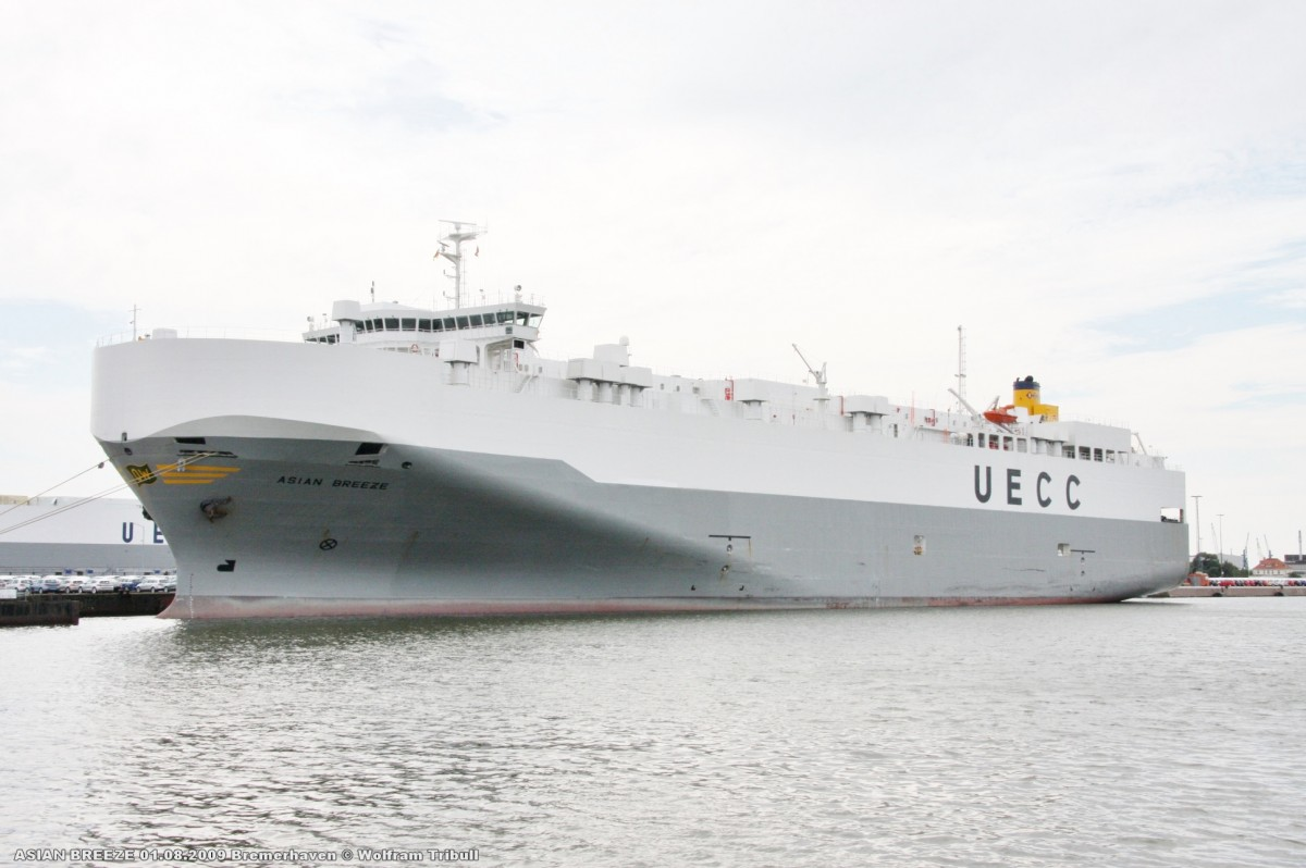 ASIAN BREEZE am 01.08.2009 im Hafen von Bremerhaven