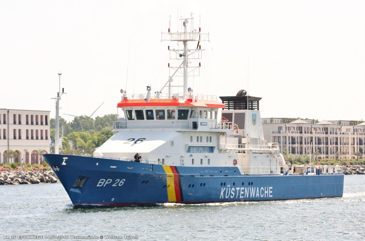 BP 26 ESCHWEGE am 14.07.2010 bei Rostock Höhe Warnemünde