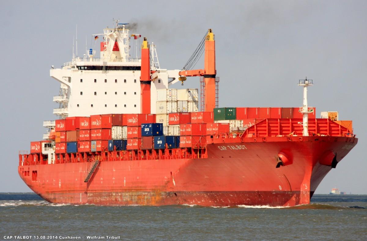 CAP TALBOT aufgenommen am 13.08.2014 bei Cuxhaven Höhe Steubenhöft