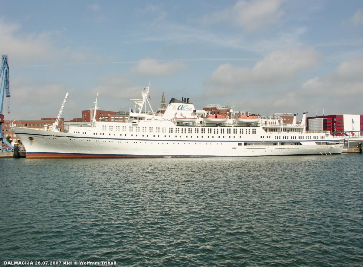 DALMACIJA am 28.07.207 im Kieler Hafen