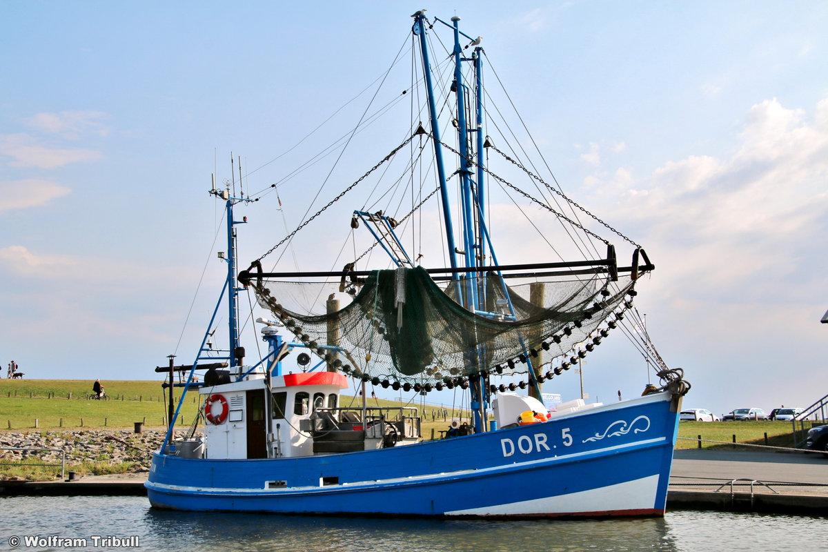 DOR 5 NIXE II aufgenommen am 17.07.2018 im Hafen von Dorum-Neufeld