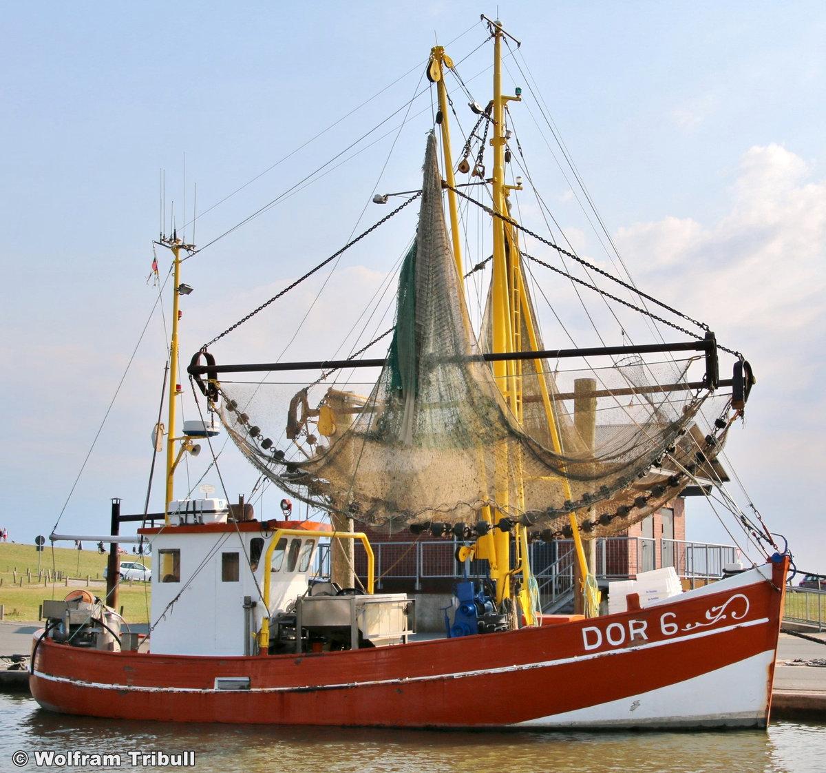 DOR 6 HEIMATLAND aufgenommen am 17.07.2018 im Hafen von Dorum-Neufeld