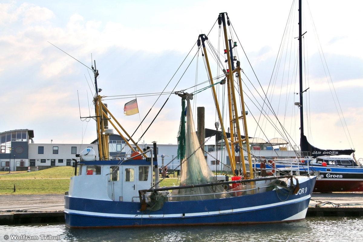 DOR 9 SOLEA aufgenommen am 17.07.2018 im Hafen von Dorum-Neufeld