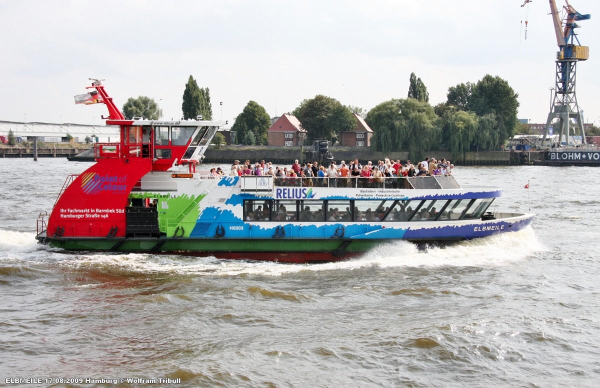 ELBMEILE am 17.08.2009 bei Hamburg Höhe St. Pauli-Landungsbrücken