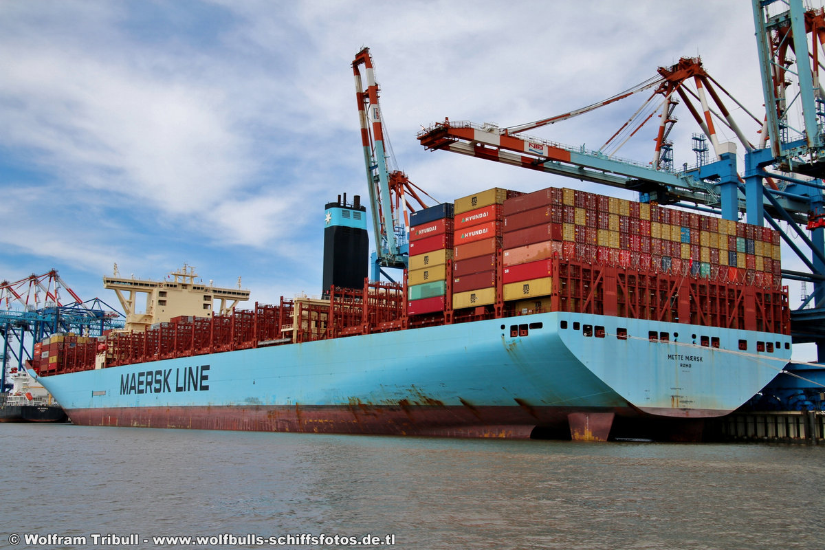 METTE MAERSK am 01.08.2018 bei Bremerhaven Höhe Container Terminal NTB
