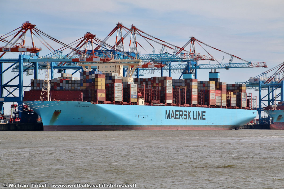 MILAN MAERSK am 29.07.2018 bei Bremerhaven Höhe Container Terminal NTB