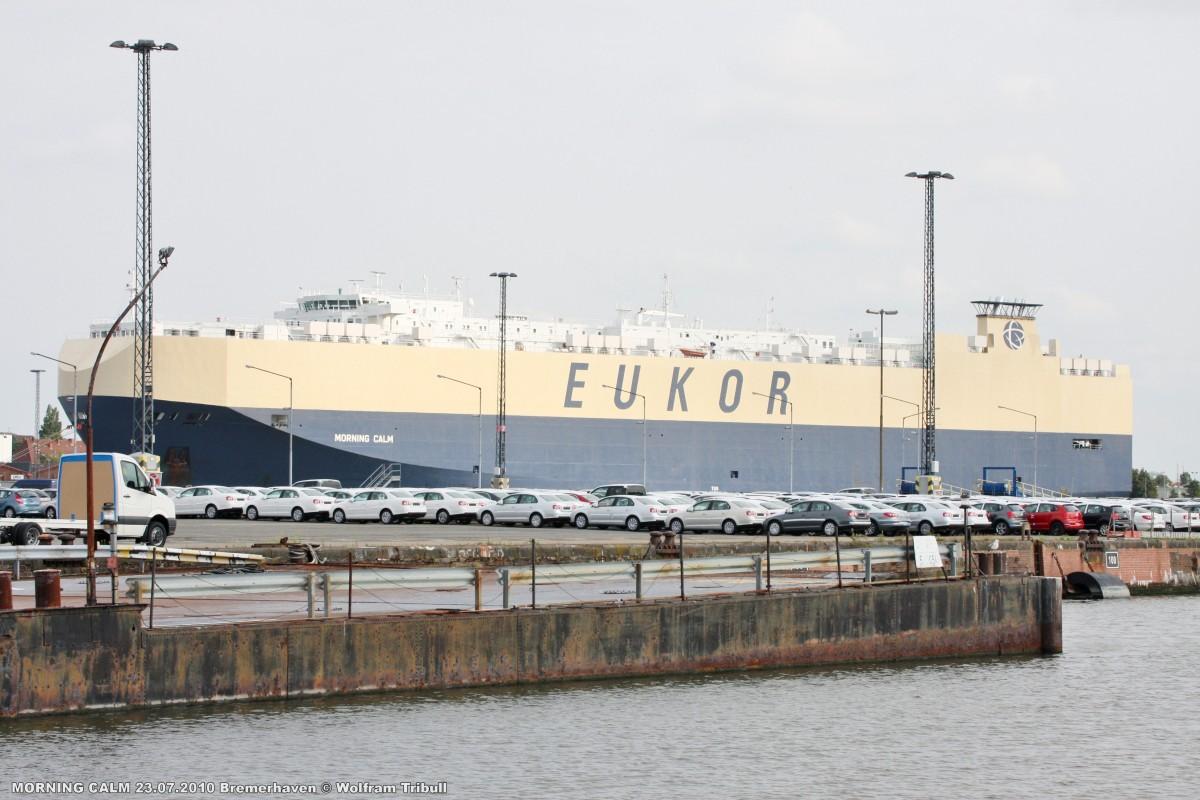 MORNING CALM am 23.07.2010 im Hafen von Bremerhaven
