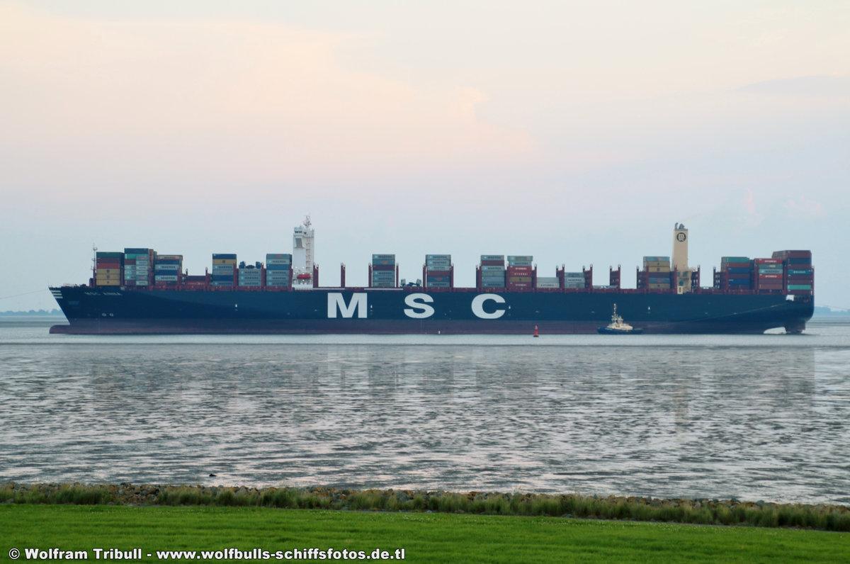 MSC ANNA aufgenommen am 22. Juli 2017 bei Imsum Höhe Ochsenturm