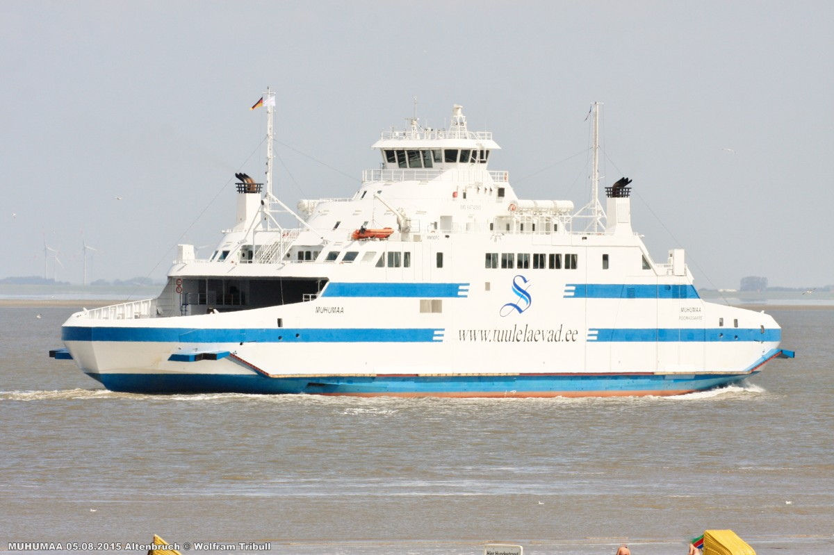MUHUMAA aufgenommen bei Cuxhaven Höhe Altenbruch am 05.08.2015