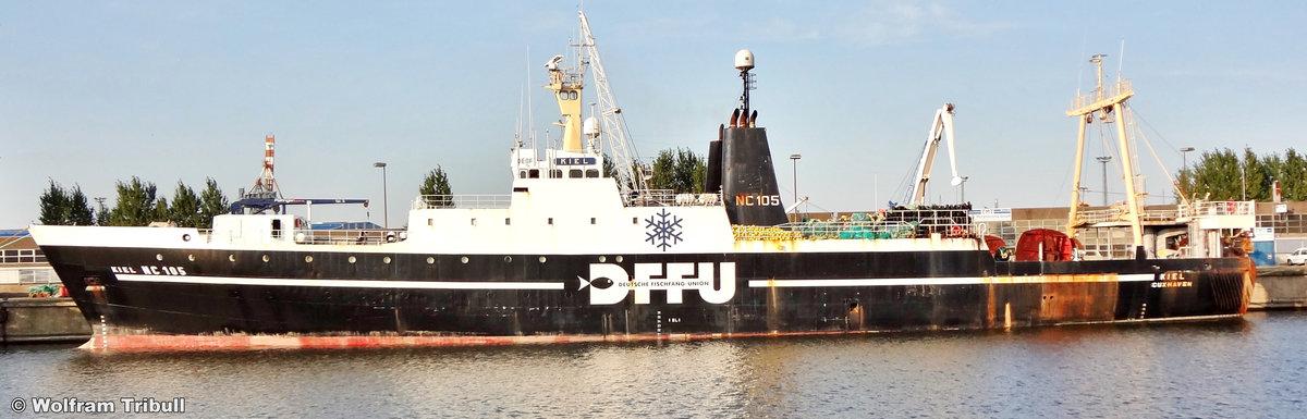 NC 105 KIEL am 14.08.2012 im Neuen Fischereihafen von Cuxhaven