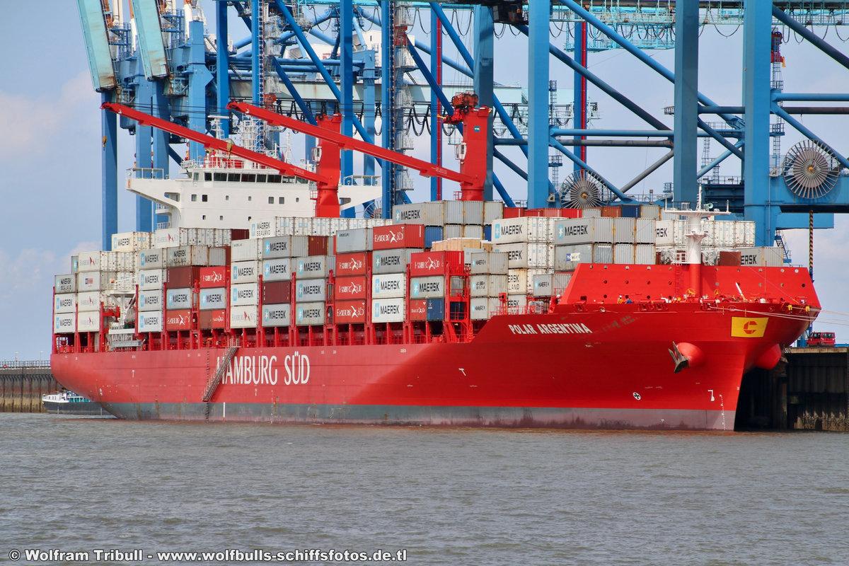 POLAR ARGENTINA am 19.07.2018 bei Bremerhaven Höhe Container Terminal NTB