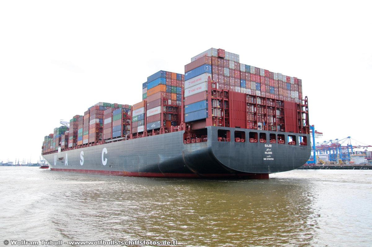 SAJIR aufgenommen am 30. Juli 2017 bei Hamburg Höhe Container Terminal Burchardkai