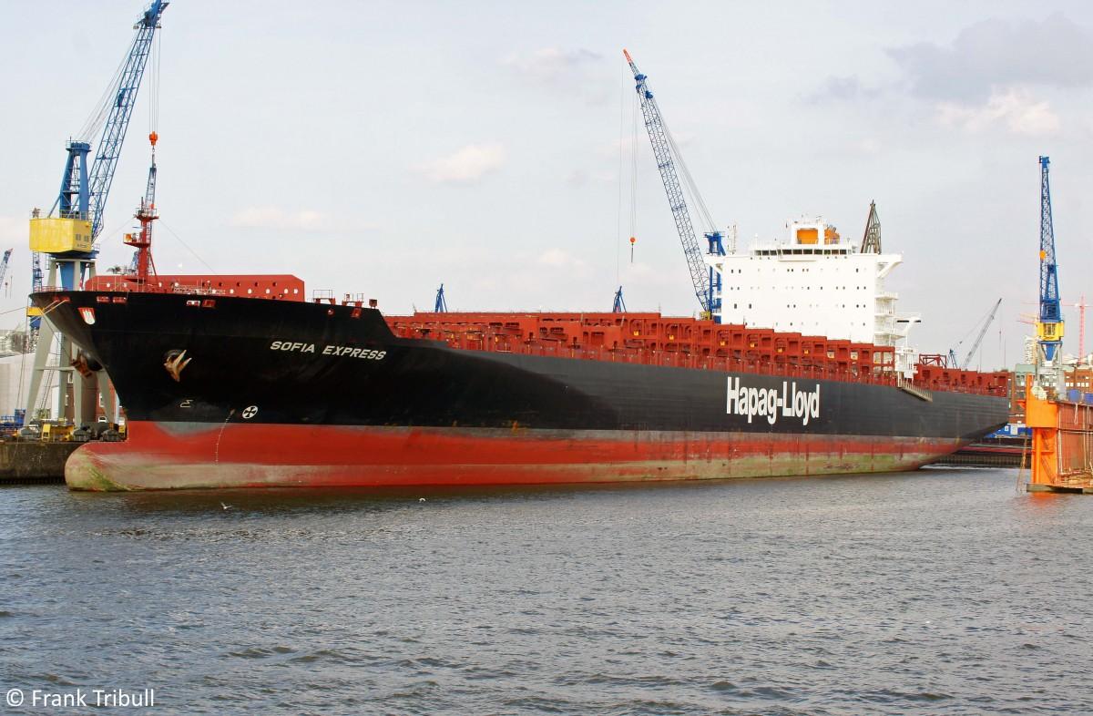 SOFIA EXPRESS aufgenommen am 29.08.2012 bei Hamburg