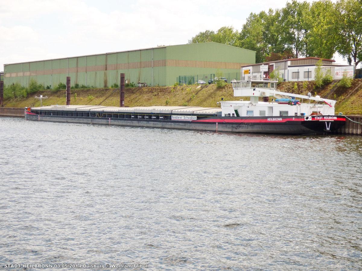 STADT HEILBRONN am 03.05.2014 bei der Hafenrundfahrt durch den Duisburger Hafen