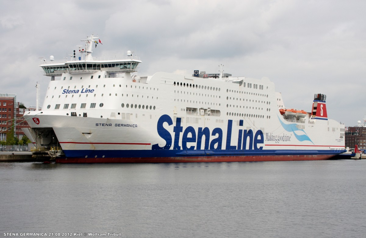STENA GERMANICA am 21.08.2012 in Kiel Höhe Stena Line Terminal