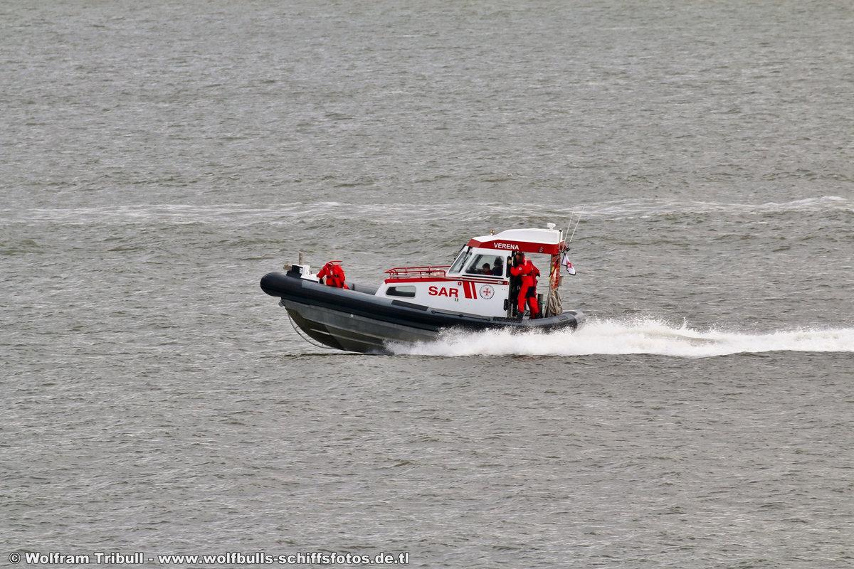 Tochterboot VERENA am 01.08.2016 bei Cuxhaven Höhe Steubenhöft
