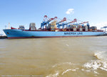 MARIT MAERSK am 06.08.2016 bei Bremerhaven Höhe Container Terminal NTB